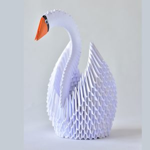 Origami swan sculpture - Origami cards and sculptures for sale online at Origami Inside